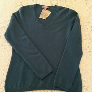 Cashmere By Charlie Club Teal Sweater
